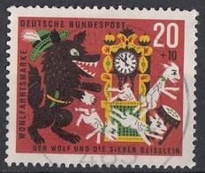 Germania 1963 Sc. B394 Favole The Wolf And The Seven Kids Bundespost Germany Used - Fiabe, Racconti Popolari & Leggende
