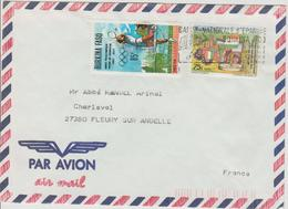 Burkina Faso Lettre De 1989 Pour La France - Burkina Faso (1984-...)