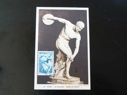 CARTE MAXIMUM     MONACO   ROME   LE DISCOBOLE   MUSEE DU VATICAN - Maximum Cards