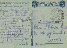 FRANCHIGIA POSTA MILITARE 44 1943 TUNISI TUNISIA 180° OSPEDALE CAMPO LUCCA - 1900-44 Victor Emmanuel III.