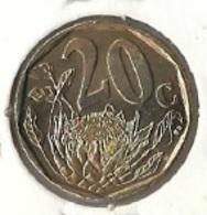 South Africa - 20 Cents 1997 - Flower - UNC - Sudáfrica