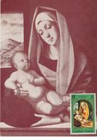Iles Caimans Carte Maximum 1969 Vierge Et L'Enfant - Iles Caïmans