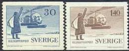 ZWEDEN 1958 Helikopterpost Serie PF-MNH - Nuevos
