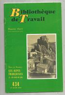 Bibliothéque De Travail, N° 434, 1959, LES ALPES FRANCAISES, Les Alpes Du Sud , 32 Pages ,frais Fr 1.95 E - Alpes - Pays-de-Savoie