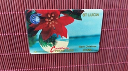 Phonecard Christmas St.Lucia Number 5CSLA Used Rare - St. Lucia