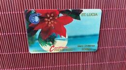 Phonecard Christmas St.Lucia Number 5CSLA Used Rare - Santa Lucía