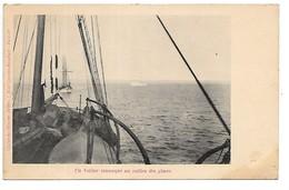 Un Voilier Remorqué Au Milieu Des Glaces....bateaux  ..morutiers........cliché Des Oeuvres De Mer.... - Fishing