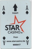 Carte Star Casino Belgique (Surface Endommagée) - Casino Cards