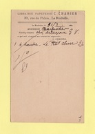 Type Sage - Entier Repique Librairie Papeterie Charier La Rochelle - 1889 - 1877-1920: Semi Modern Period
