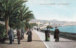 CPA SALUTI DA S. REMO - LA PROMENADE - San Remo