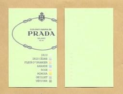 Carte Parfumée Perfume Card LES INFUSIONS DE PRADA * PRADA * R/V - Perfume Cards