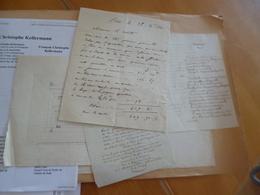 Maréchal Kellerman Duc D Valmy 4 Doc Dont Las Duc De Valmy 2 Hommages Et Un Dessin De Sa Pierre Tombale - Autographes
