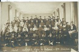CARTE PHOTO - Hôpital Militaire N°8 Lycée De VALENCE 3e Division - War 1914-18