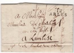 MP  12  ARLES Du1.06.1829 ( Indice 5 = 20 € ) - 1801-1848: Précurseurs XIX