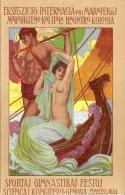 [DC11864] CPA - ILL. FAINI - MANIFESTAZIONI GINNASTICHE E SPORTIVE GENOVA 1914 - PERFETTA - Non Viaggiata - Old Postcard - Esposizioni