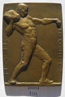 Bacač Kamena Frangeš-Mihanović, H.A.Š.K. 1903-1923 PLAQUE   PLIM - Athletics