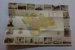 Dépliant Touriste Avec Carte De Faro Algarve Portugal Tourist Flyer With Map C. 1945 - Tourism Brochures