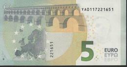 € 5 GREECE  Y001 E2  DRAGHI  UNC - 5 Euro