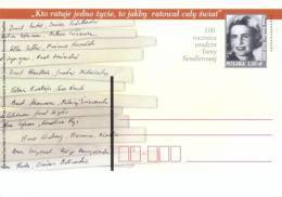 Poland Pologne, Irena Sendler, Israel Award RIGHTEOUS AMONG THE NATIONS, Postal Stationery, Judaica, WWII, 2010. - WW2