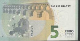 € 5 GREECE  Y001 B6  DRAGHI  UNC - 5 Euro