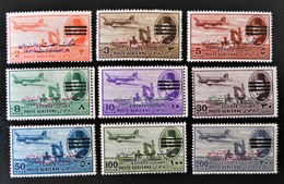 POSTE AERIENNE 1953 - NEUFS * - YT 68/70 + 72/73 + 75 + 77/79 - Egypt