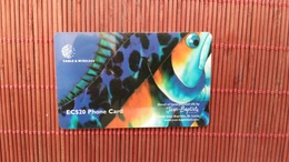 Phonecard ST Lucia Blue Fish Number 338CSLA  Rare - Saint Lucia