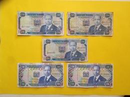 Lot 5 Billet De 20 - Kenya