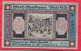 Allemagne 1 Notgeld 2 Mark Bielefeld Lot N °1602  Dans L' état - [ 3] 1918-1933 : Weimar Republic