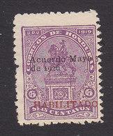 Honduras, Scott #230, Mint No Gum, Statue Of Morazan Overprinted, Issued 1926 - Honduras