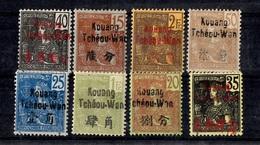 Kouang-Tchéou Huit Timbres Anciens Neufs *. Bonnes Valeurs. B/TB. A Saisir! - Kouang-Tcheou (1906-1945)