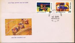 INDIEN -FDC  Mi.Nr.  740 - 741  Tag Des Kindes: Kinderzeichnungen - FDC