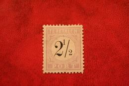 Read SURINAME 1886-1888 Portzegel 2 1/2 Cent Zwart / Lila NVPH P 1 P1 Ongebruikt MH (*) - Surinam ... - 1975