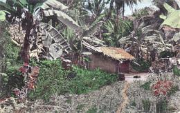 AFRIQUE,AFRICA,COTE D'IVOIRE ,ABIDJAN,brousse,habitation ,cabane,case,carte Photo - Ivory Coast
