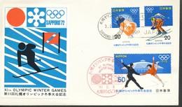 Japan  -FDC   Mi.Nr.  1138 - 1140     Olympische Winterspiele, Sapporo   1972 - FDC
