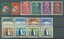PORTUGAL  - 1958 - USED/OBLIT.- YEAR COMPLETE - Mi 862-875 - Yv 843-856 - Lot 16723 - Portugal