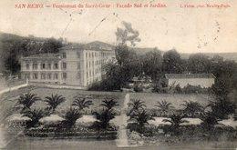 CPA SAN REMO - PENSIONNAT DU SACRE COEUR - FACADE SUD ET JARDINS - San Remo