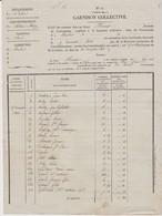 Etat Des Sommes Dues Pour Garnison Collective Par Les Habitants De Baulnes En Brie, 19/11/1833 - Historical Documents