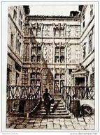 EAU FORTE ORIGINALE Sur Vélin * BAYONNE < Lieu ? * Par Ferdinand CORREGES En1893 - Lithographies