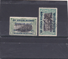 Ruanda-Urundi 1916  N° 28 Et 30  Timbre Du Congo Belge Avec Surcharge Bilingue - Ruanda-Urundi
