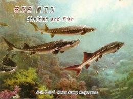 KOREA NORTH (DPR), 2014, Booklet 219 And 219a, Shellfish And Fish - Korea (Nord-)