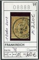 Frankreich - France - Francia -  Michel 78 - Oo Oblit. Used Gebruikt - - 1876-1898 Sage (Type II)