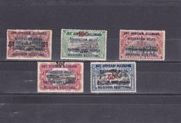 Ruanda-UrundI  1922  N° 45/49  Timbres De 1916 Surchargés - Ruanda-Urundi