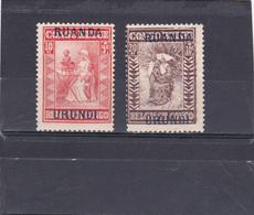 Ruanda-UrundI  1930  N° 81/82  Timbres Du Congo Belge Surchargés - Ruanda-Urundi