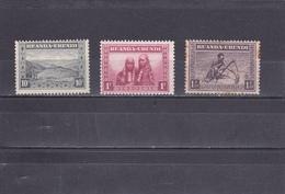 Ruanda-UrundI  1931  N° 92, 99, 102  Sujets Divers - Ruanda-Urundi