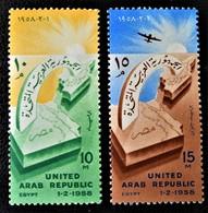 PROCLAMATION DE LA REPUBLIQUE ARABE UNIE 1958 - NEUFS ** - MI 537/38 - Egypt