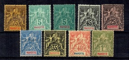 Mayotte Neuf Timbres Type Groupe Neufs * 1892/1907. B/TB. A Saisir! - Mayotte (1892-2011)