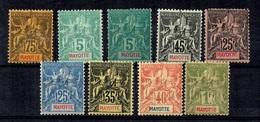 Mayotte Neuf Timbres Type Groupe Neufs * 1892/1907. B/TB. A Saisir! - Ungebraucht