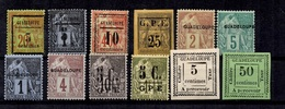 Guadeloupe Belle  Petite Collection Neufs * 1884/1892. Bonnes Valeurs. B/TB. A Saisir! - Guadeloupe (1884-1947)