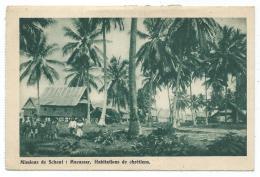CPSM ANIMEE MISSIONS DE SCHEUT : MACASSAR. HABITATIONS DE CHRETIENS, INDONESIE - Indonésie