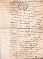 ACTE NOTARIE SUR PEAU DE 1760 DE LORRAINE ET BARR - Manuscripts